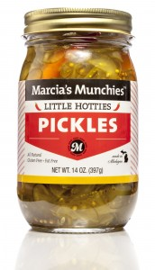 Little Hotties Thinly sliced pickle chips with a kick.