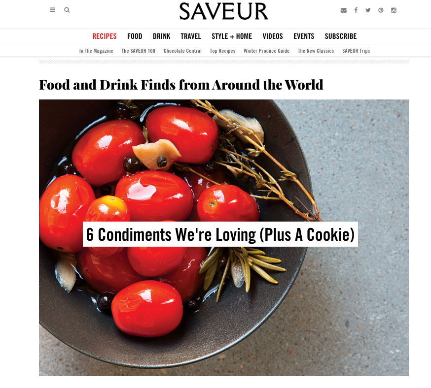 SAVEUR.com 6 Condiments We're Loving